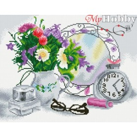 Diamond embroidery and mosaic paintings ' Flower Mood' Size 40x50cm DIY art. by Tsvetnoy - LG080e
