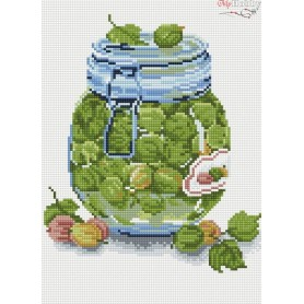 Diamond embroidery and mosaic paintings ' Gooseberry Jam' Size 30x40cm DIY art. by Tsvetnoy - LE052e