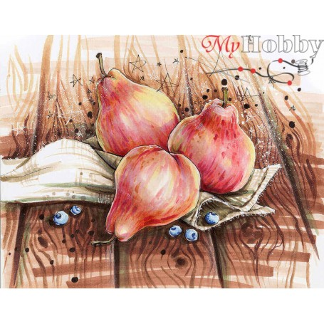 Diamond embroidery and mosaic paintings ' Still life with pears' Size 40x50cm DIY art. by Tsvetnoy - LG161e