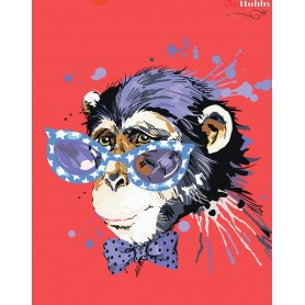 Diamond embroidery and mosaic paintings ' Stylish Monkey' Size 40x50cm DIY art. by Tsvetnoy - LG188e