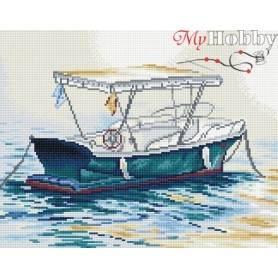 Diamond embroidery and mosaic paintings ' Lonely Boat' Size 40x50cm DIY art. by Tsvetnoy - LG084e