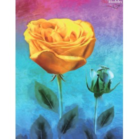 Diamond embroidery and mosaic paintings ' Yellow Rose' Size 40x50cm DIY art. by Tsvetnoy - LG227e