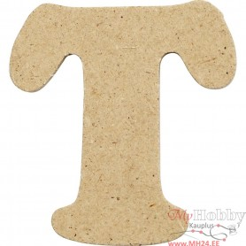 Letter, T, H: 4 cm, thickness 2,5 mm, MDF, 1pc