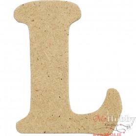Letter, L, H: 4 cm, thickness 2,5 mm, MDF, 1pc