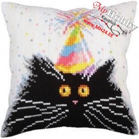 Cross Stitch Cushion Kit Happy Birthday! Article: 5254 Collection D'Art - size 40x40 cm.