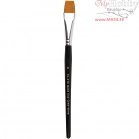 Gold Line Brushes, size 16 , W: 17 mm, flat, 6pcs