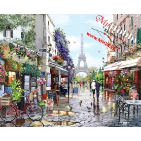 Paint by numbers 'Paris in Spring' Size 40x50cm DIY art. by TSV - MG2206e