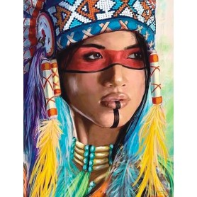 Diamond embroidery and mosaic paintings 'Native American Woman ' Size 40x50cm DIY art. by Tsvetnoy - LG234e