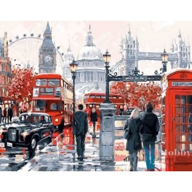 Diamond embroidery and mosaic paintings 'London Street ' Size 40x50cm DIY art. by Tsvetnoy - LG049e