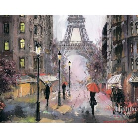 Diamond embroidery and mosaic paintings 'Paris in the Rain ' Size 40x50cm DIY art. by Tsvetnoy - LG249e