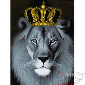Diamond embroidery and mosaic paintings 'Lion King ' Size 40x50cm DIY art. by Tsvetnoy - LG235e