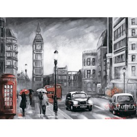 Diamond embroidery and mosaic paintings 'London in the Rain ' Size 40x50cm DIY art. by Tsvetnoy - LG250e