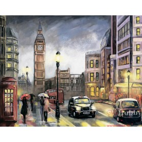 Diamond embroidery and mosaic paintings 'London in Autumn ' Size 40x50cm DIY art. by Tsvetnoy - LG251e