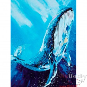 Diamond embroidery and mosaic paintings 'Majestic Whale ' Size 40x50cm DIY art. by Tsvetnoy - LG244e