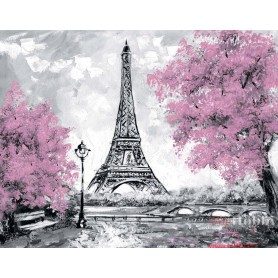 Diamond embroidery and mosaic paintings 'Eiffel Tower in Bloom ' Size 40x50cm DIY art. by Tsvetnoy - LG255e