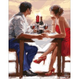 Diamond embroidery and mosaic paintings 'Romantic Dinner ' Size 40x50cm DIY art. by Tsvetnoy - LG071e