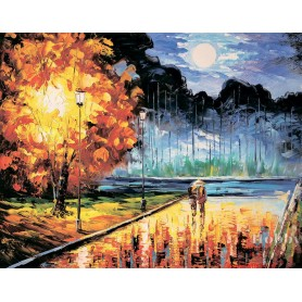 Diamond embroidery and mosaic paintings 'Autumn Mood ' Size 40x50cm DIY art. by Tsvetnoy - LG254e