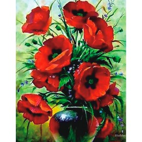 Diamond embroidery and mosaic paintings 'Poppies Bouquet ' Size 40x50cm DIY art. by Tsvetnoy - LG231e