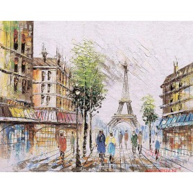 Diamond embroidery and mosaic paintings 'Impression of Paris ' Size 40x50cm DIY art. by Tsvetnoy - LG252e