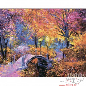 Diamond embroidery and mosaic paintings 'Autumn Colours ' Size 40x50cm DIY art. by Tsvetnoy - LG256e