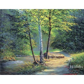 Diamond embroidery and mosaic paintings 'Birches ' Size 40x50cm DIY art. by Tsvetnoy - LG259e