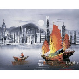 Diamond embroidery and mosaic paintings 'Hong Kong by Night ' Size 40x50cm DIY art. by Tsvetnoy - LG253e