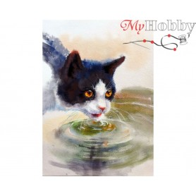 Diamond Embroidery Painting Kit Thirst, Article: DE7098 Collection D'Art - size 27x38 cm.