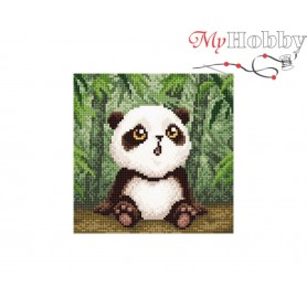 Diamond Embroidery Painting Kit Baby panda Collection D'Art - size 20x20