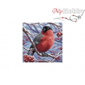 Diamond Embroidery Painting Kit Bullfinch Collection D'Art - size 20x20