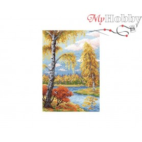 Diamond Embroidery Painting Kit Fall landscape Collection D'Art - size 19x27