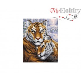 Diamond Embroidery Painting Kit Tigers Collection D'Art - size 38x48
