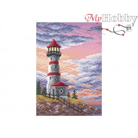 Diamond Embroidery Painting Kit Lighthouse Collection D'Art - size 19x27