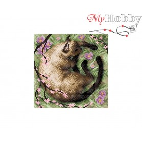 Diamond Embroidery Painting Kit In the ghost of sakura Collection D'Art - size 20x20
