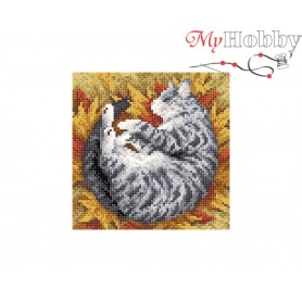 Diamond Embroidery Painting Kit Striped fall Collection D'Art - size 20x20