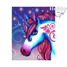 "Diamond Embroidery Painting Kit ""Unicorn "" Collection D'Art - size 17x21"
