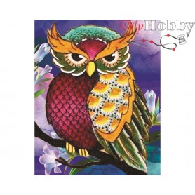 "Diamond Embroidery Painting Kit ""Night warden"" Collection D'Art - size 17x21"