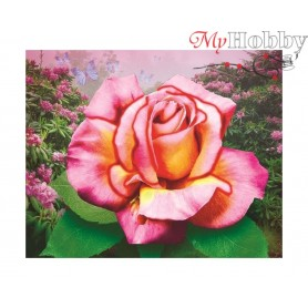"Diamond Embroidery Painting Kit ""Delicate rose"" Collection D'Art - size 21x17"