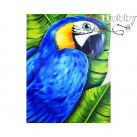 "Diamond Embroidery Painting Kit ""Parrot"" Collection D'Art - size 17x21"