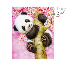 "Diamond Embroidery Painting Kit ""Cute panda"" Collection D'Art - size 17x21"