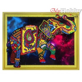 "Diamond Embroidery Painting Kit ""Star elephant "" Collection D'Art - size 40x30"