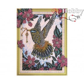 "Diamond Embroidery Painting Kit ""Gentle Hummingbird"" Collection D'Art - size 40x30"