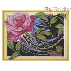 "Diamond Embroidery Painting Kit ""Diamond rose"" Collection D'Art - size 40x30"