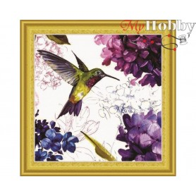 "Diamond Embroidery Painting Kit ""Hummingbird"" Collection D'Art - size 30x30cm"