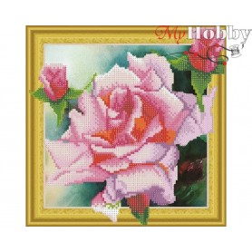 "Diamond Embroidery Painting Kit ""Tender rose"" Collection D'Art - size 30x30cm"