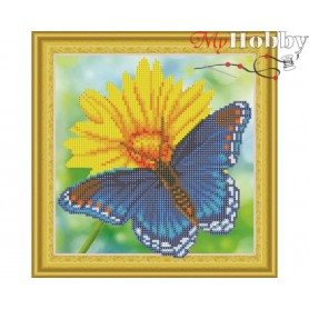 "Diamond Embroidery Painting Kit ""Bright summer"" Collection D'Art - size 30x30cm"