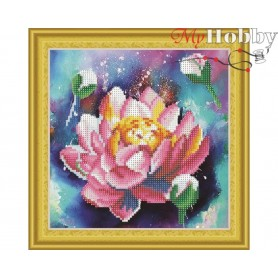 "Diamond Embroidery Painting Kit ""Lotus"" Collection D'Art - size 30x30cm"