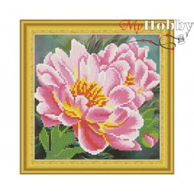 "Diamond Embroidery Painting Kit ""Peonies"" Collection D'Art - size 30x30cm"