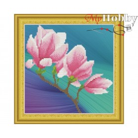 "Diamond Embroidery Painting Kit ""Magnolia branch"" Collection D'Art - size 30x30cm"