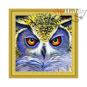 "Diamond Embroidery Painting Kit ""Lucky oul"" Collection D'Art - size 30x30cm"