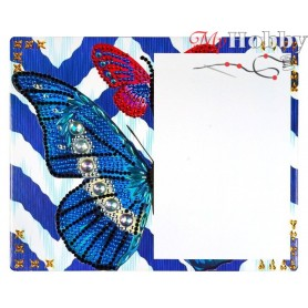 "Diamond Embroidery Painting Kit ""Diamond butterflies"" Collection D'Art - size 21x17cm"